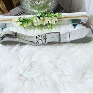 Roxy Leather Doble Buckle Silver Belt size Medium